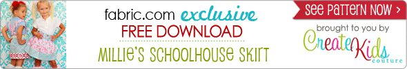 Free swag! Free Pattern Download Millie's Schoolhouse Skirt