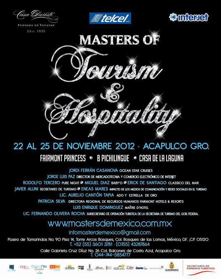 """Cop@News informa:  Buenas noticias ... y seguimos con notas interesantes!  Del 22 al 25 de Noviembre, 2012.  """"Master Tourism & Hospitality"""""""