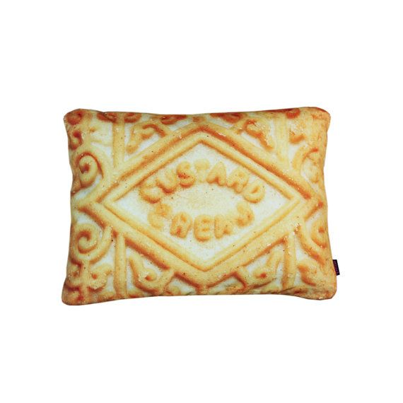 Custard Cream Biscuit Cushion by Textiler 40x30cm by @Textiler - Valentines Cushions, £30.00