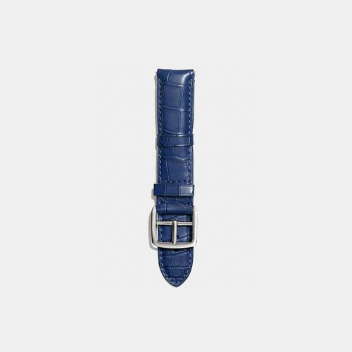 Coach Outlet Locations & COACH BLEECKER watch strap in crocodile NAVY