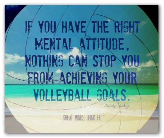 Volleyball it a way of life! It teaches you how to work together and depend on other people other than yourself.