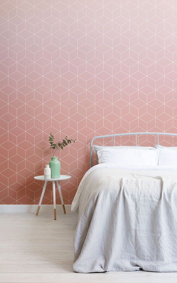 Create a modern teenage bedroom for girls with these fun and trendy wallpaper murals. With accents of salmon and deep blue these colourschemes work ...