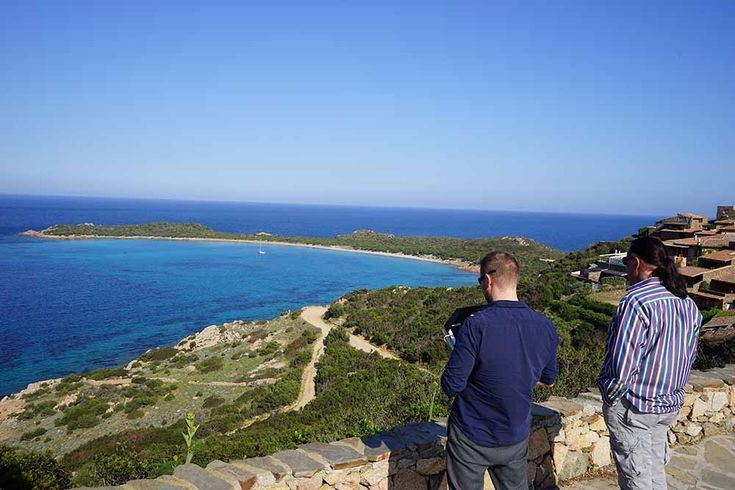 Fotodrohne DJI Inspire 1 in der traumhaften Bucht Capo Coda Cavallo