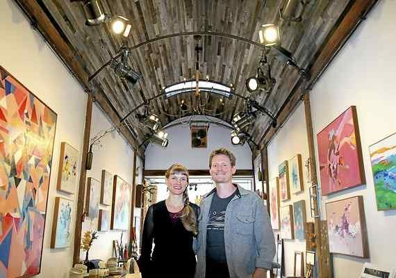 Sarah Farrell Mackessay and her husband and business partner James Mackessy have created Lille Aeske, a uniquely designed gallery and performance venue in downtown Boulder Creek. (Shmuel Thaler -- Santa Cruz Sentinel)