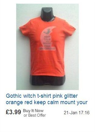 Halloween glitter witch t-shirt KEEP CALM AND MOUNT YOUR BROOMSTICK