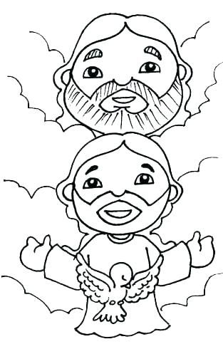 Holy Trinity Coloring Page Holy Trinity Coloring Pages