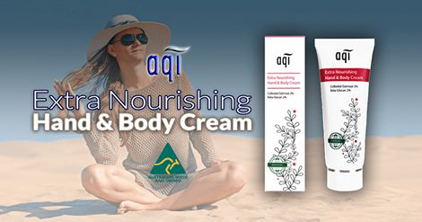 AQI Extra Nourishing Hand and Body Cream – Provides all day moisture for sensitive, allergy prone and fragile skin.  Please follow the link for more details :  http://www.aqicare.com/buy/aqi-extra-nourishing-hand-body-cream-100ml/0368