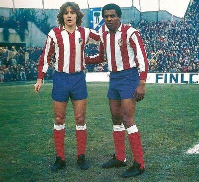 Leivinha y Pereira, dos grandes jugadores del Atletico de Madrid