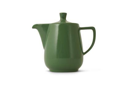 Grüne Kaffeekanne von Friesland Porzellan, Farbe: Tanne, Klassische Form der Haushaltskanne seit den 50er Jahren unverändert!