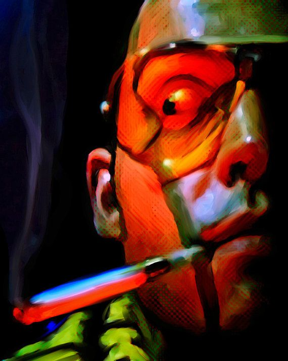 Fear And Loathing In Las Vegas Canvas Print Of Portrait