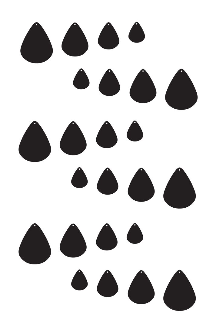 Teardrop Template Pattern Laminate These And Use As