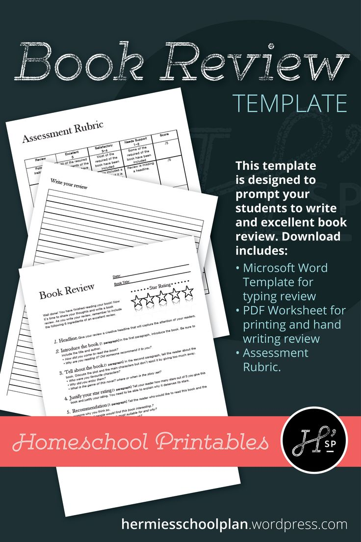 Book review downloadable template in 2020 book review