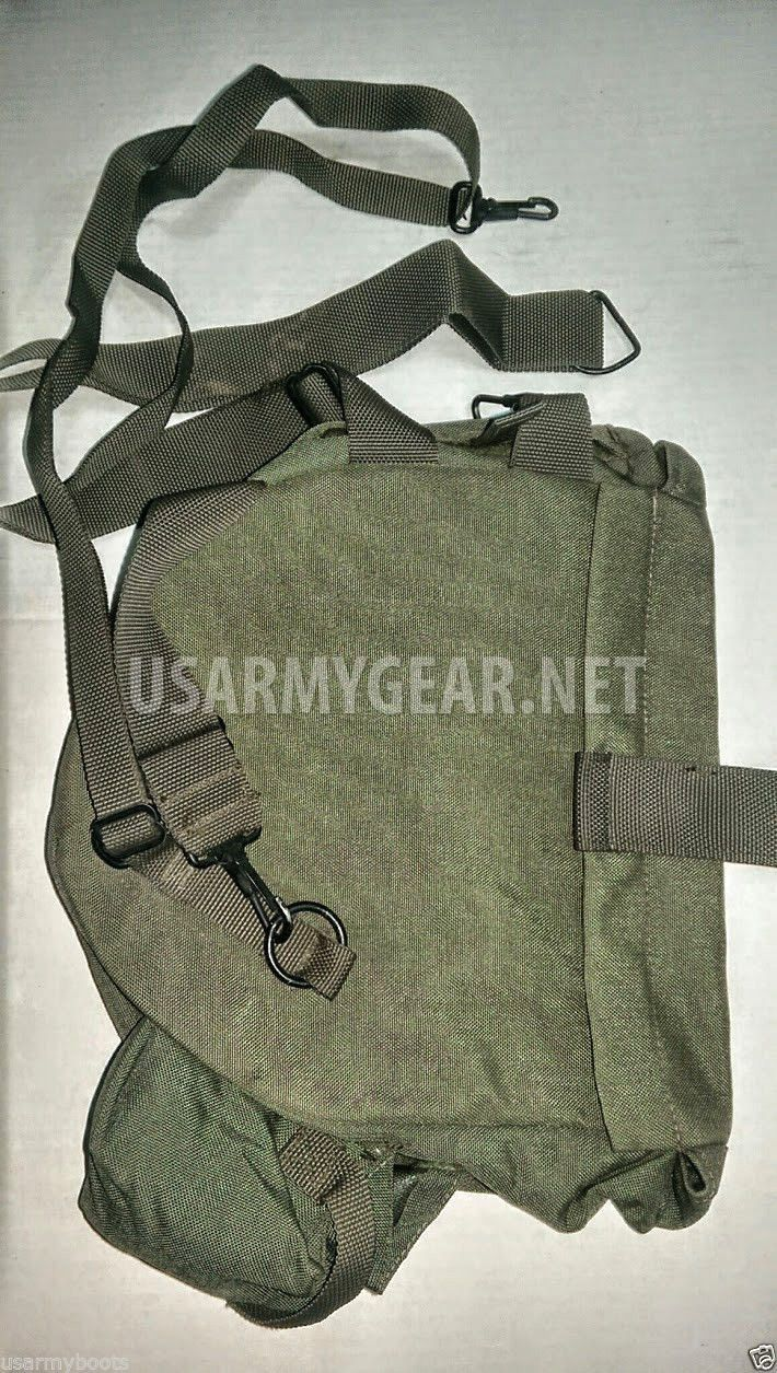 New Made in USA M40 Gas Mask Bag Carrier w Shoulder Strap | US Army Gear