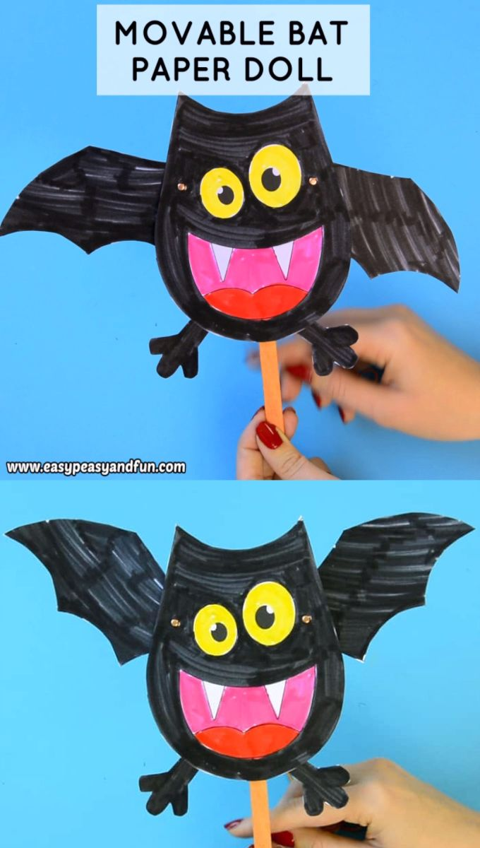 Movable Bat Paper Doll