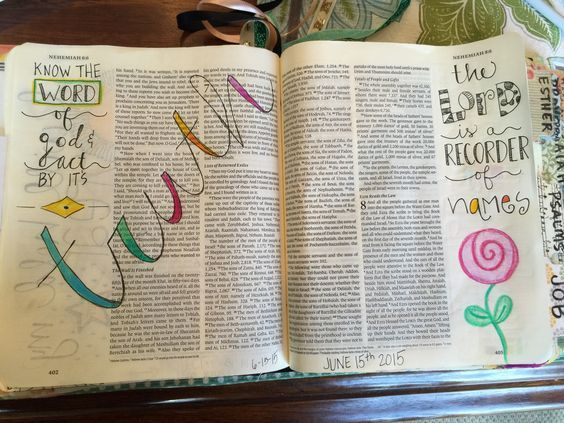 Image result for nehemiah bible journaling