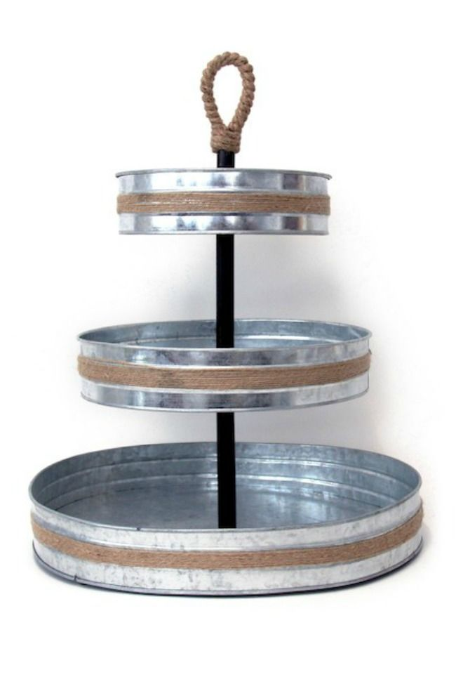 The 11 Best Tiered Serving Stands The Eleven Best Galvanized Tray Tiered Serving Stand Tiered Tray