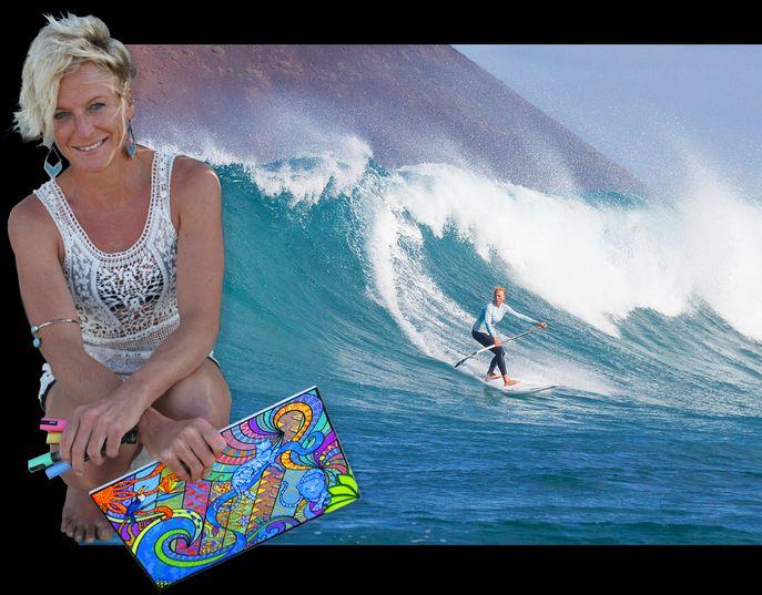 Sonni Hönscheid, Künstler und pro Standup Paddle-Athlet, Nordküste Fuerteventura, Sylt und maui