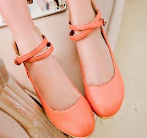 Womens Sweet Newe Cross Strap Mary Jane Low Heel Pumps Shoes Plus Size 9950 | eBay