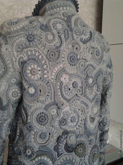 """Верхняя одежда ручной работы. Пальто фриформ """"Гармония"""". Наталия. Ярмарка Мастеров. Пальто вязаное, мода 2015, пальто на заказ"""