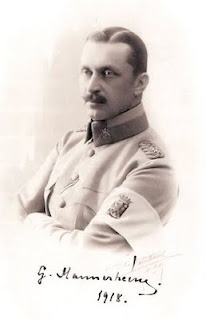 Baron Carl Gustaf Emil Mannerheim ( (4 June 1867 – 27 January 1951) was the Commander-in-Chief of Finland's Defence Forces during World War II, Marshal of Finland and a politician. He was Regent of Finland (1918–1919) and the sixth President of Finland (1944–1946).