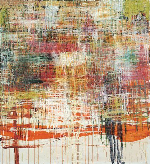 Olav Christopher Jenssen: Vacant Biographie, 1997 Oil on canvas 220 x 200 cm