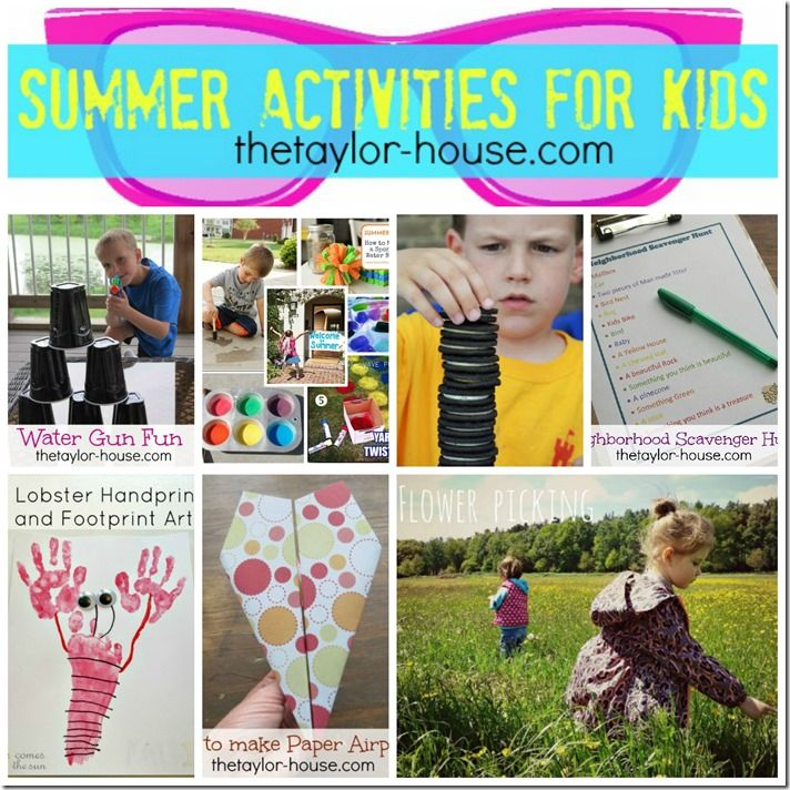 Summer Activities for Kids Round Up #summercrafts #thetaylorhouse
