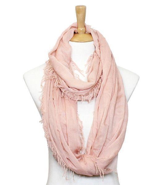 Blush infinity scarf