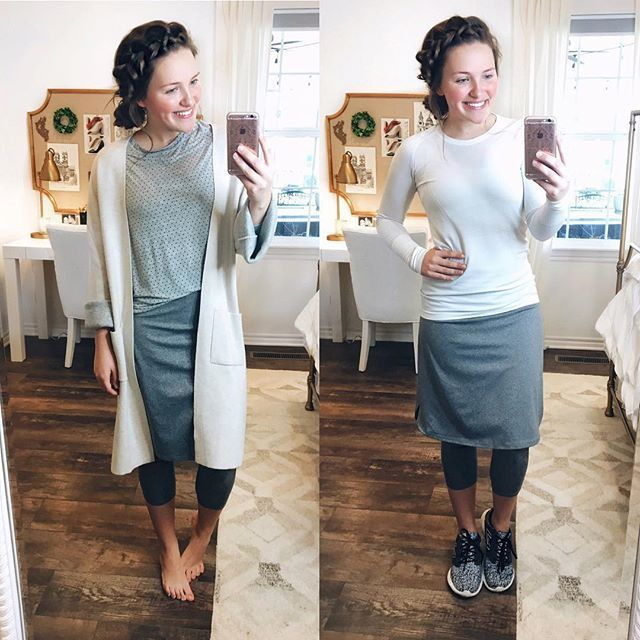 Courtney: I absolutely love my newest @snoga_athletics skirt. There are mainly two ways that I wear it: to crossfit in the mornings or just for comfortable lounging if I'm at home! I have the grey skirt with the full-length leggings as well and I definitely prefer this one with the cropped leggings. Seriously if you work out, or if you just like to be comfortable at home or traveling, I 100% recommend these skirts!! They run true to size if you're wondering.