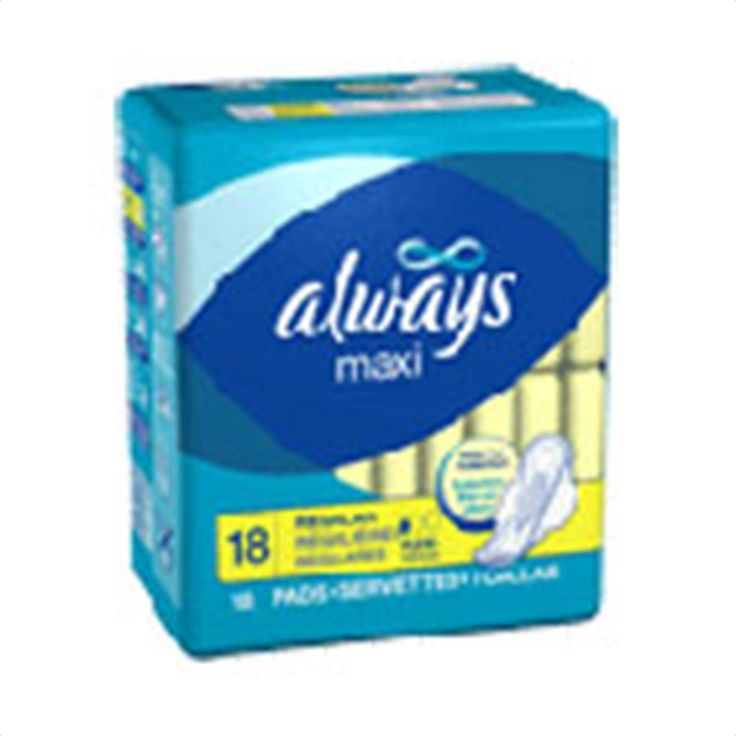 Buy Always Maxi Pads Regular with Flexi-Wings - 18 pads | Always Maxi Pads, Regular with Flexi-Wings has soft, cotton-like Dri-Weave that is softer than ever and helps provide clean dry protection. myotcstore.com - Ezy Shopping, Low Prices & Fast Shipping.