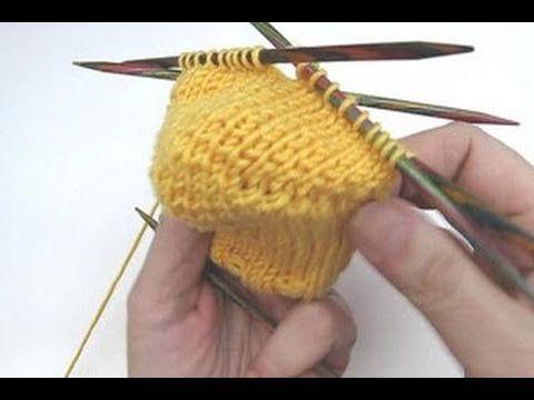 Socken stricken * Sockenkurs #8 * Bumerangferse Standardmethode Jojoferse - YouTube