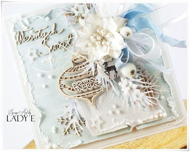 Mroźne kartki świąteczne i kurs video / Frozen Christmas Cards