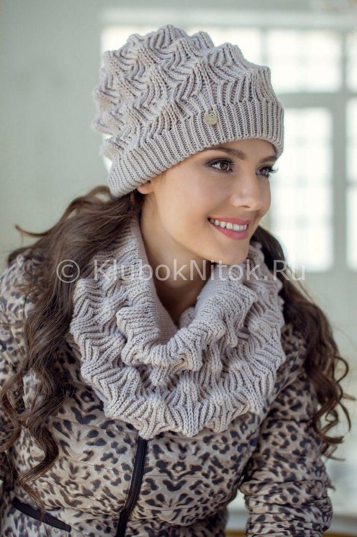 Un snood et son bonnet au point relief : encore un beau modèle à faire avec ce bonnet et le snood parfait pour l'hiver