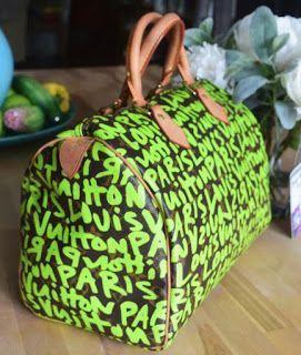 c3204a84fd30 Louis Vuitton Monogram Limited Edition Lime Green Graffiti Sprouse Speedy 30   Guccihandbags