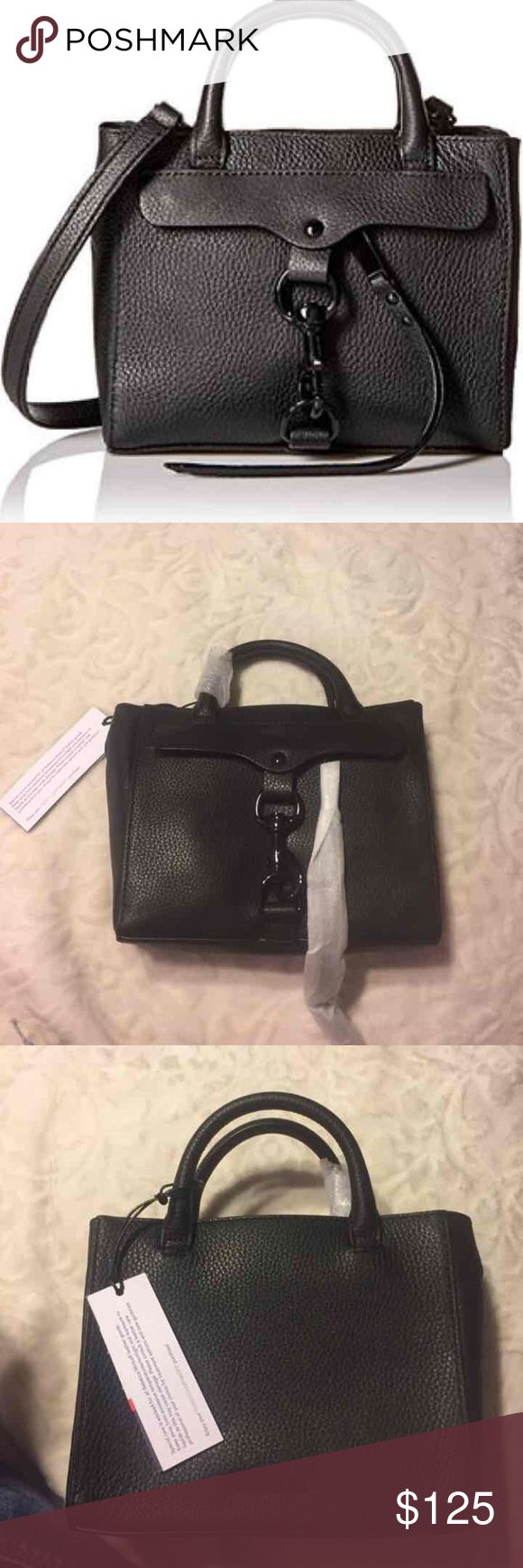 Rebecca Minkoff purse Small dog clip tote cross body. Beautiful soft Black leather and black hardware. Comes with long strap and with dust bag. Brand new one of a kind purse. Dimensions: 7.5x6x3 ❤️MAKE AN OFFER❤️ Rebecca Minkoff Bags Mini Bags