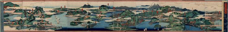Panoramic view of the fifty-three stations of the Tokaido Road. Creator Andō, Hiroshige, 1797-1858. Publisher Edo : Tōkei Vancouver (B.C.) : University of British Columbia. Library. Date 1839