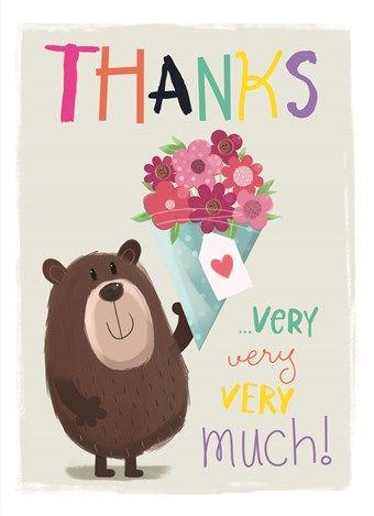 Wil je een dierbare bedanken! Dan zegt deze kaart meer dan duizend woorden…