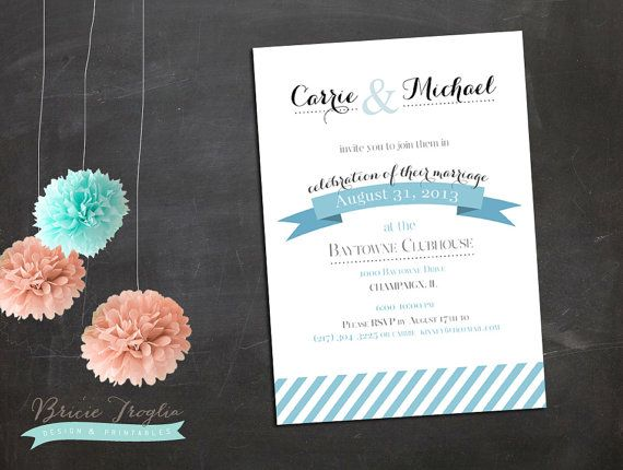 wedding reception only invitations etsy wedding reception invitation by bricietrogliadesign on - Wedding Reception Only Invitations