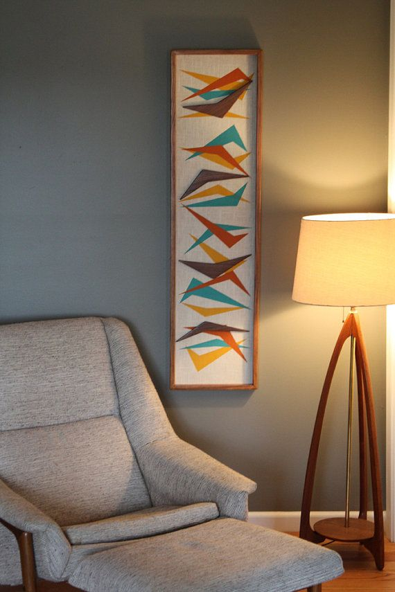 mid century danish modern tiki witco styled boomerang wall art. Black Bedroom Furniture Sets. Home Design Ideas