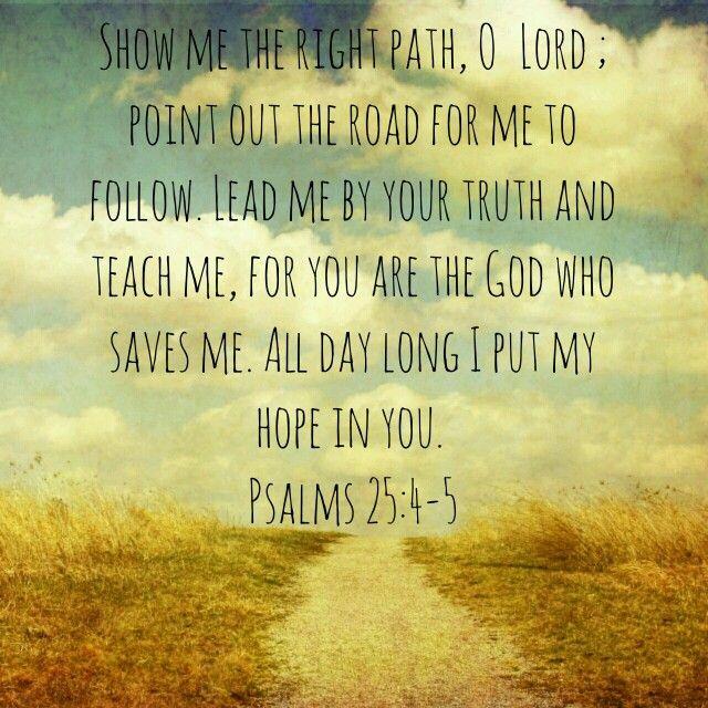Psalms 25:4-5