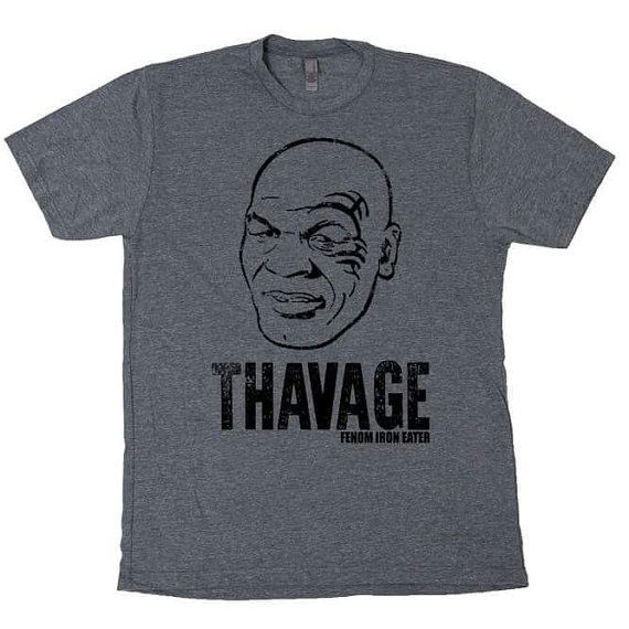 e29135727 Mike Tyson THAVAGE savage tshirt for working out, powerlifting, and fitness  apparel. Triblend Material Fits true to size Heather Grey These…