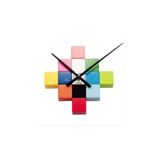 Karlsson DIY Cubic Multicoloured Wall Clock | Cult Furniture UK