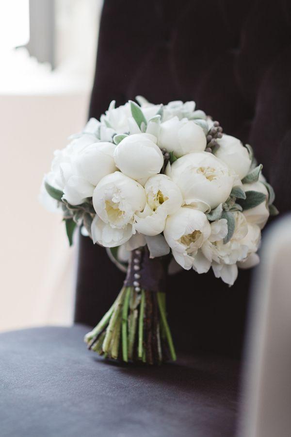 Elegant white peony bouquet: http://www.stylemepretty.com/destination-weddings/2015/08/13/romantic-destination-wedding-in-provence/ | Photography: Miss Gen - http://missgen.com/