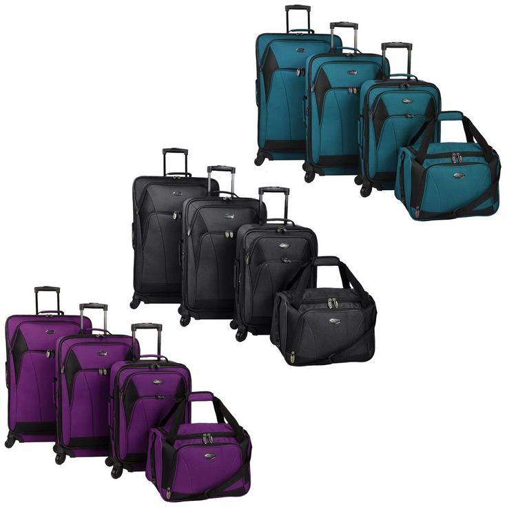 Saratoga 4-Piece Light Expandable Spinner Luggage Duffel Bag Travel Suitcase Set | Travel, Luggage | eBay!