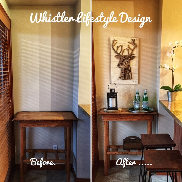 Before and after photos of this rustic Whistler ski cabin