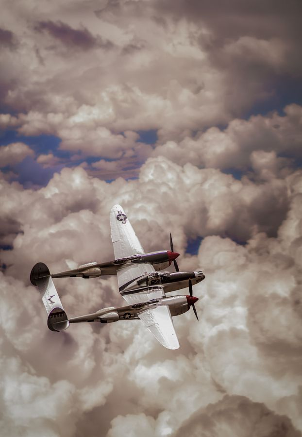 P-38 Lightning. I think these planes are beautiful.
