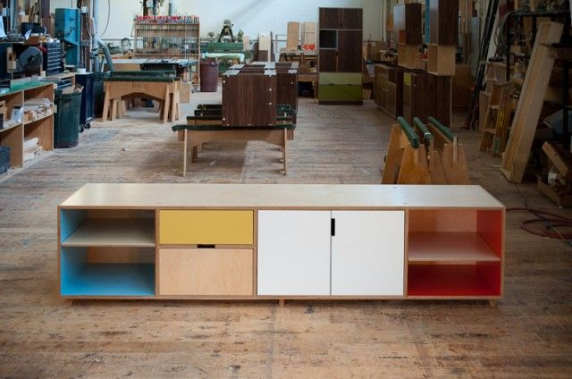 Kerf TK storage: a long low storage console for a local client
