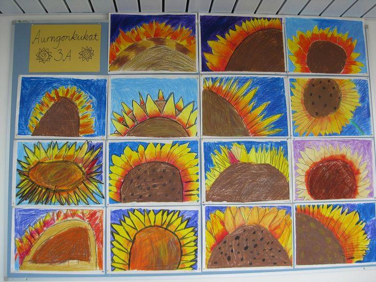 Luokassa tapahtuu: Auringonkukat