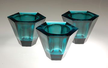 Teal Candle Holders. springhousecandles.com