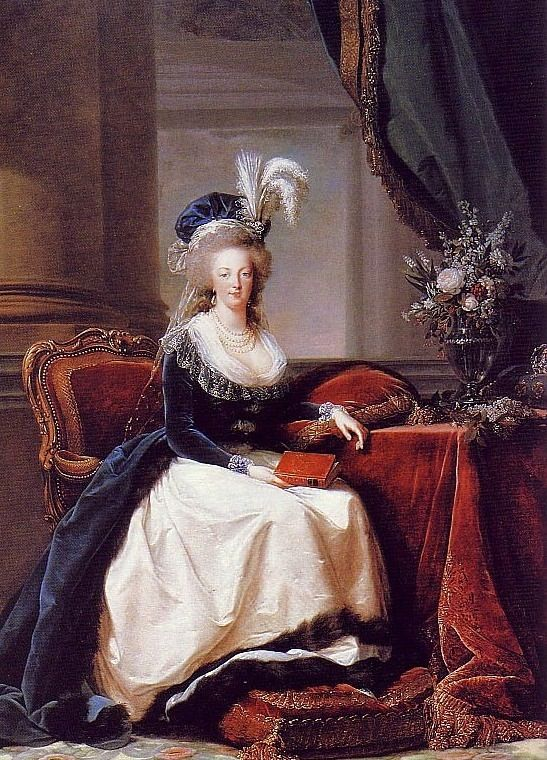 Portrait of Marie Antoinette, Queen of France, reading a book. Painted by Élisabeth Vigée-Le Brun 1788