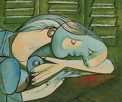 Favourite Picasso's piece. Sleeping Woman with Shutters
